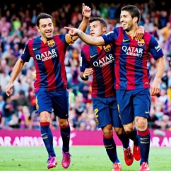 The Best Barça trio ever.