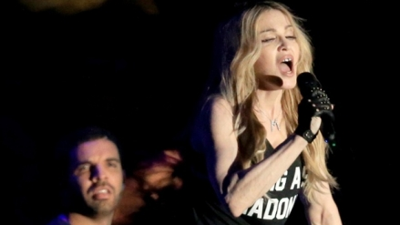 Madonna kisses Drake at Coachella
