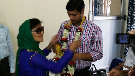 Sonali Mukherjee-Tiwari: acid attack victim marries the love of her life !