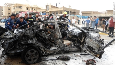 IN BAGHDAD AREA ,15 KILLED DUE TO CAR BOMBING !!