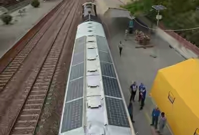 Indian Railways Trials First Solar Powered Train